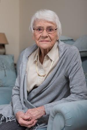 Irene Wheelhouse, 90, in her new flat.