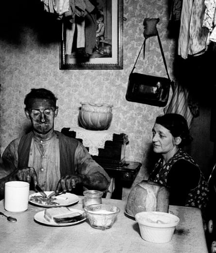 Miner at his evening meal, 1937