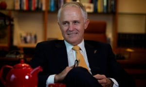 Malcolm Turnbull in his Parliament House office in Canberra.