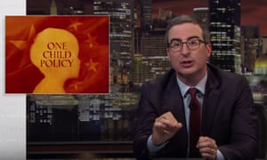 "John Oliver on the Chinese Community Party's one child policy: ""For a government that made it a point to micro-manage their citizens' lives, China did surprisingly little to prepare for the long-term consequences of this policy."""