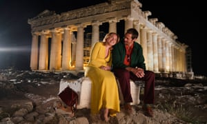 Florence Pugh and Alexander Skarsgård in The Little Drummer Girl