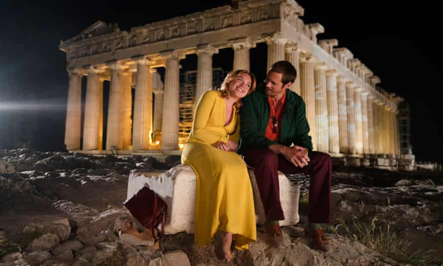 Charlie and Becker at the Acropolis.