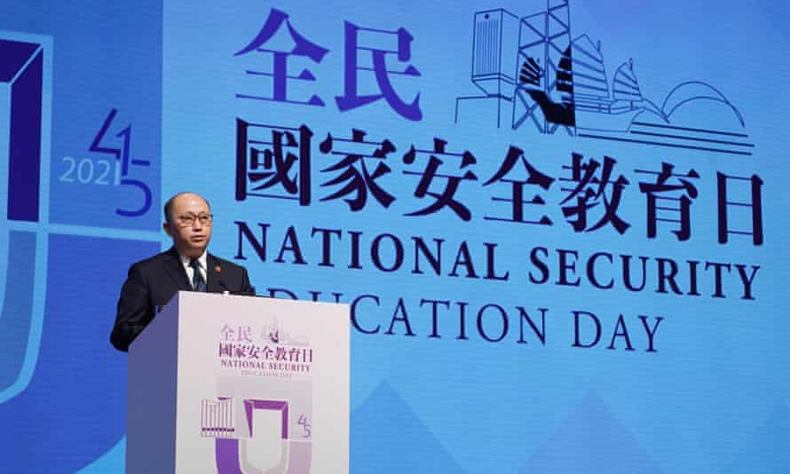 Zheng Yanxiong, director of the Office for Safeguarding National Security
