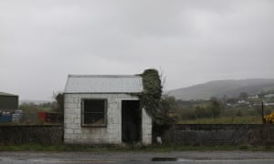 an abandoned old customs post on the old border road between Belfast and Dublin