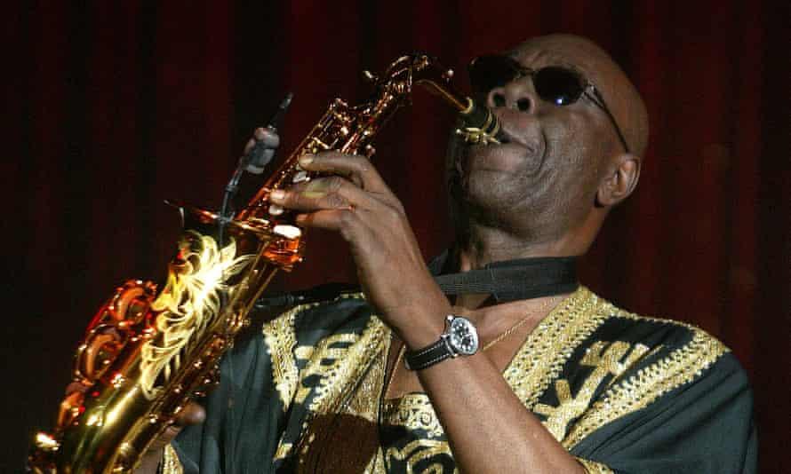 Manu Dibango performing in 2005.