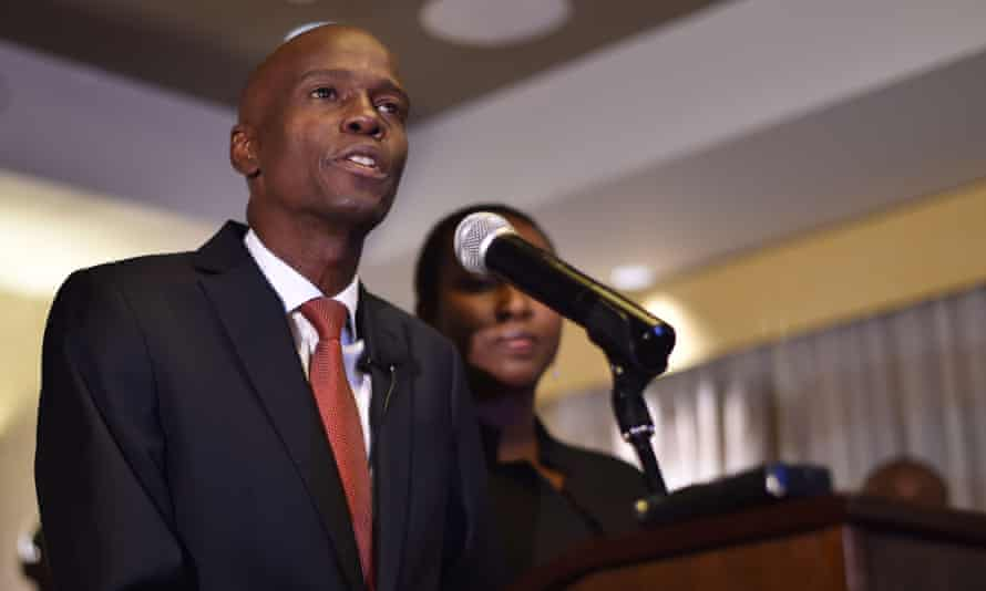 Jovenel Moise, who won the presidential election with 55.67% of the vote.