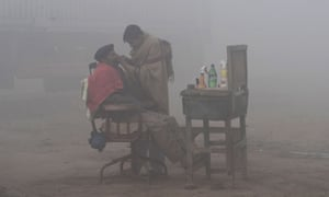 The foggiest a man can get in the barber's chair.