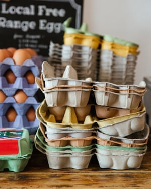 Local free range eggs in the Clean Kilo, Birmingham.