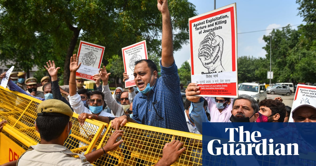 India arrests dozens of journalists in clampdown on critics of Covid-19 response