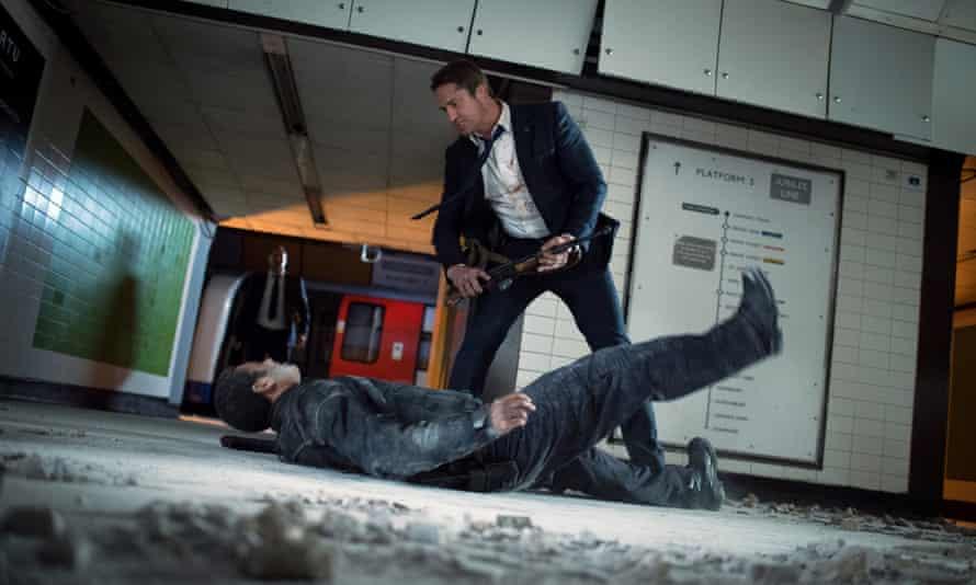 Gerard Butler as Mike Banning in London Has Fallen.