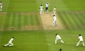 Ollie Pope catches to dismiss Ishant Sharma