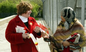 Canvassing in 2005, the year she was first elected to parliament