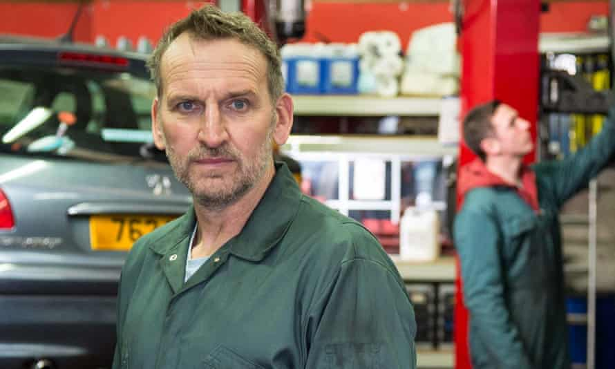 Christopher Eccleston on the set of Come Home last year.