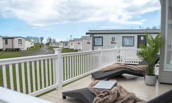 Seafield caravan park in Northumberland.