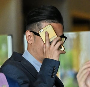 Michael Le, 24, leaves the high court in Singapore.
