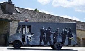 Banksy painted van