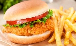 Fried chicken in a bap