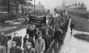 State of desperation: a hunger march in 1935 before the creation of the welfare state.