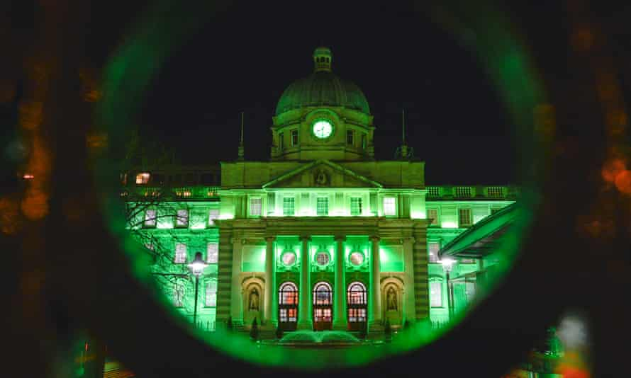 Government buildings in Dublin goes green for St Patrick's Day, but how green Ireland truly is?