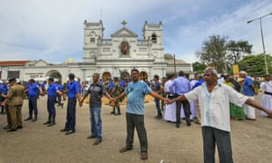 Soldiers secure the area around St Anthony's shrine in Colombo on Sunday.