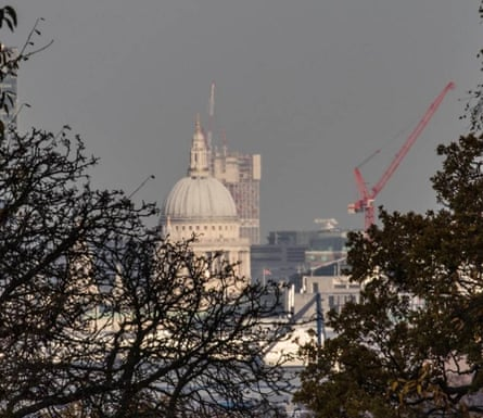 SOM's unfinished 42-storey skyscraper in Stratford can be seen behind St Paul's.