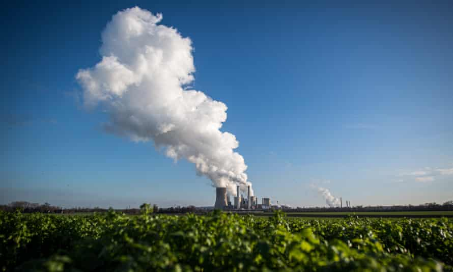 The Niederaussem coal-fired power plant near Bergheim, Germany.