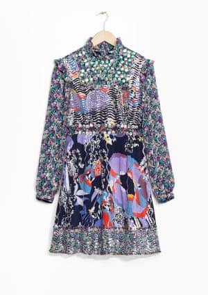 Patterned ruffle dress