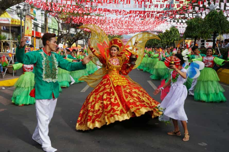 Dancers at Sinulog - an annual cultural and religious festival held in Cebu, Philippines