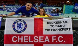 Chelsea fans in Baku