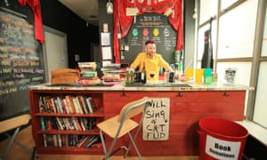 Robert Kane at Accidental Theatre's book bar
