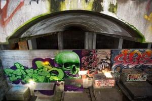 Graffiti at St Peter's Seminary in Cardross