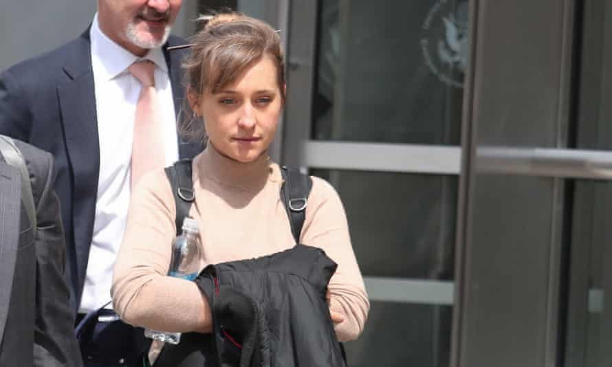Allison Mack departs the Brooklyn federal courthouse in New York, on 8 April.