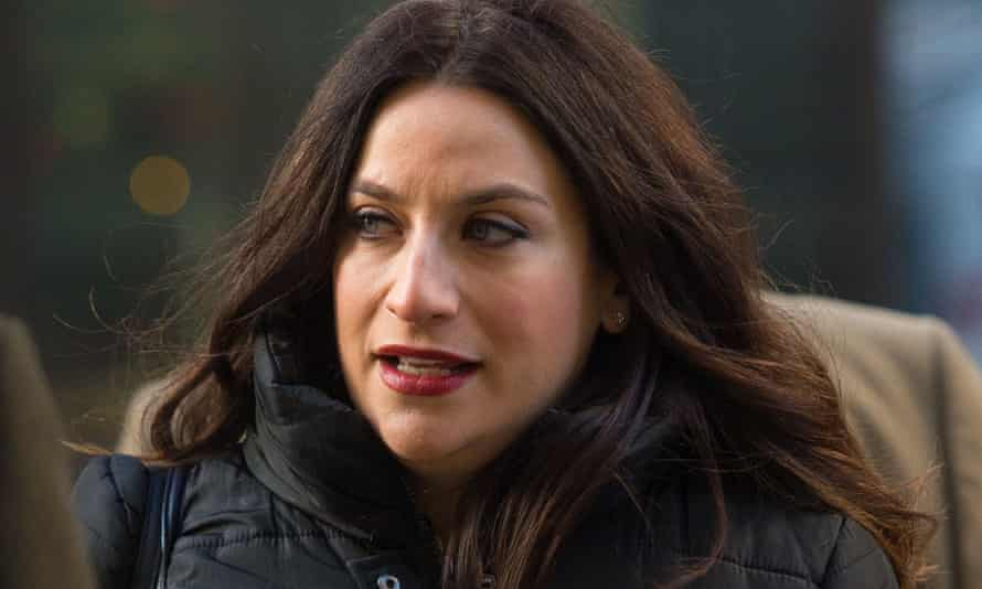 Luciana Berger arrives at the Old Bailey.