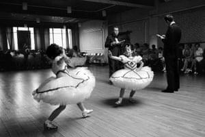 Junior Wales ballroom dancing championships, Bargoed, Wales, 1973