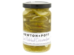 Newton and Pott gin-pickled cucumber