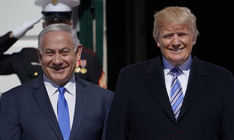 Donald Trump and Benjamin Netanyahu in 2018. Trump said the Golan Heights were of 'critical strategic and security importance to the state of Israel and regional stability'.