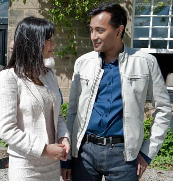 Rhik Sammader in Emmerdale with Fiona Wade in 2004