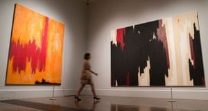 Coup … the exhibition has a room of works by the rarely loaned Clyfford Still.