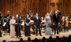 Joélle Harvey, Iestyn Davies, Sasha Cooke, Jakub Józef Orliński, Jane Archibald and Luca Pisaroni with the English Concert in Rinaldo at the Barbican.