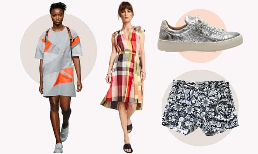 A catwalk design from Christopher Raeburn, dress by People Tree, shoes by Po-Zu and shorts from Brothers We Stand.