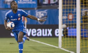 Didier Drogba reacts after scoring against the Chicago Fire