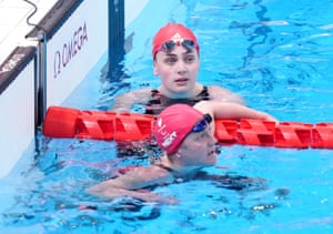 Britain's Tully Kearney after winning silver, with Great Britain's Suzanna Hext coming fourth.