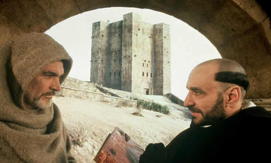In the 1986 film of Umberto Eco's novel The Name of the Rose, Sean Connery played William von Baskerville, above left, with F Murray Abraham as Bernardo Gui.