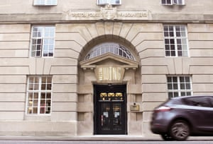 Entrance to the Bristol Wing hostel, in Bristol, UK, which used to be a police headquarters building.