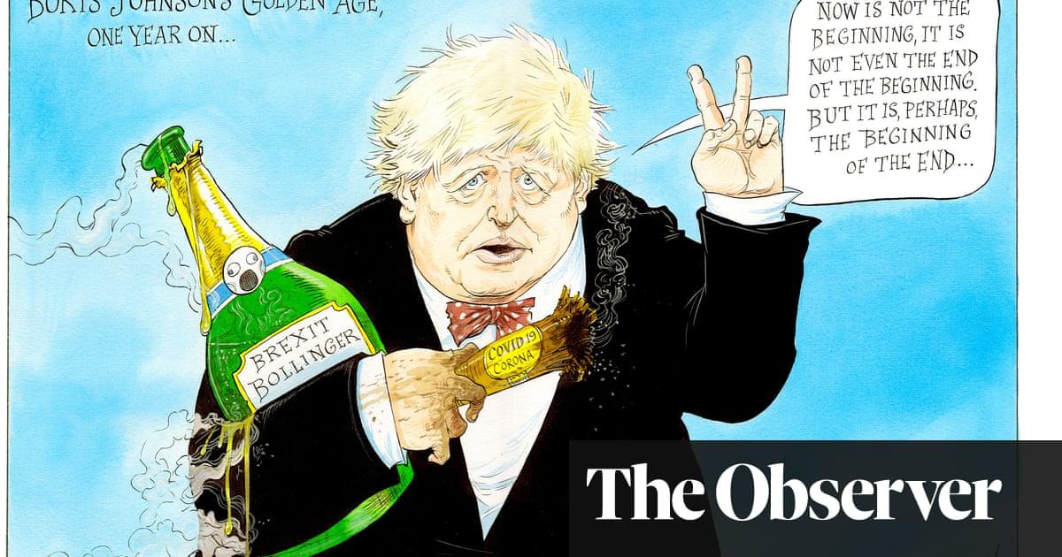 Boris Johnson, one year on – cartoon   Opinion           The Guardian