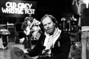 Bob Harris on The Old Grey Whistle Test in 1977.