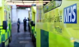 NHS ambulances