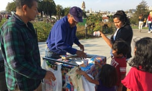 Miguel Muniz sells ice cream in San Francisco's Doloers Park in defiance of the park rangers who want him to stay out.