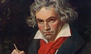Ludwig van Beethoven (1770-1827), detail of Joseph Karl Stieler's 1820.