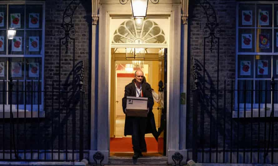 Dominic Cummings leaving 10 Downing Street on Friday. It was reported he was quitting with immediate effect.